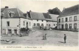 MURAT LE QUAIRE Cpa(63  La Place De L'église   Epicerie-mercerie - Rouennerie, Nouveautés - France