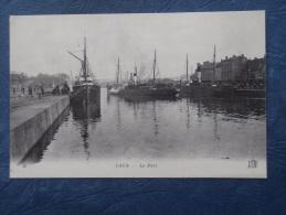 Caen  Le Port - Bateaux - Animée - ND 45 - Circulée 1918 - L188 - Caen