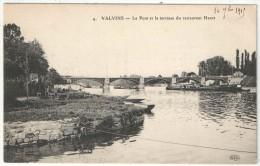 77 - (VULAINES-SUR-SEINE) - VALVINS - Le Pont Et La Terrasse Du Restaurant Henet - ELD 4 - Francia