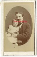 En 1876-Jeanne BIBERON Et Son Papa?- Photo Reutlinger à Paris - Antiche (ante 1900)