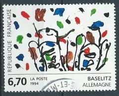1994 FRANCIA USATO QUADRI DI FRANCIA BASELITZ - G7 - Frankreich