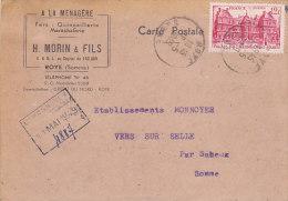 76 - Fers, Quincaillerie, Maréchalerie H. Morin & Fils à Roye (nr 803) - Covers & Documents