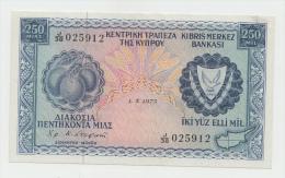 CYPRUS 250 MILS 1973 AXF PICK 41b  41 B - Chypre