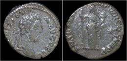Commodus AR Denarius Fortuna Standing Left - 3. The Anthonines (96 AD To 192 AD)