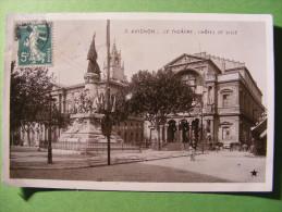 CPA Avignon (84) - Le Théâtre , L'Hôtel De Ville - Avignon