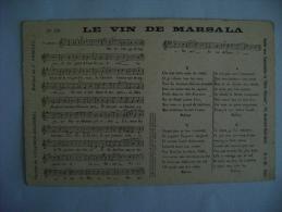 CP CHANSON - N°150 LE VIN DE MARSALA - Celebrità