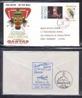 QANTAS 1967 Manila To Port Moresby First Flight Cover - Erst- U. Sonderflugbriefe