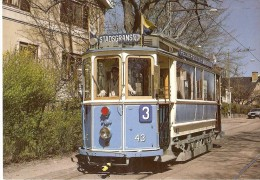 213 POSTAL DE UN TRANVIA DE LA CALLE STROM EN NORUEGA (TREN-TRAIN-ZUG) - Tranvía
