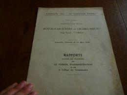 CB2 Rapport assembl�e g�n�rale  - Charbonnages Roton Farciennes et Oignies Aiseau 1935
