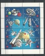 Allemagne  DDR:  1326/ 1333 ** En Feuillet - Space