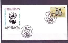 Vereinte Nationen - Gefährdete Arten -  Ersttag - Wien 3/3/1993  (RM7545) - Pingouins & Manchots