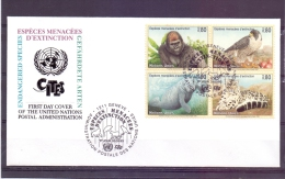 Vereinte Nationen - Espèces Menacées D'extinction - Ersttag - Wien 6/4/2000  (RM7556) - Stamps