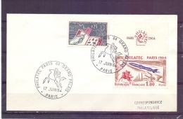Rép. Française - Philatec Paris 64 -  Paris 17/6/64  (RM7854) - Postzegels Op Postzegels