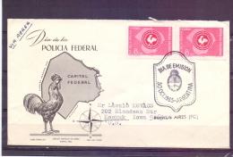 Rep. Argentina - Dia De La Policia Federal -  Dia De Emision - 30/10/1965  (RM7856) - Police - Gendarmerie