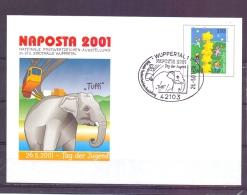 Deutschland - Naposta 2001 - Wuppertal 26/5/2001   (RM7869) - Elephants
