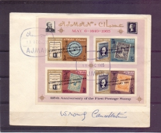 Ajman - 125th Anniversary Of The First Postage Stamp - 18/12/1965 (RM7948) - Non Classés