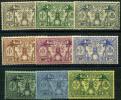 Nouvelles Hebrides (1925) N 91 à 99 * (charniere) - Légende Anglaise