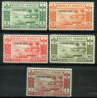 Nouvelles Hebrides (1938) Taxe N 11 à 15 * (charniere) - Légende Française