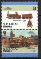 Tuvalu Nukulaelae 1986 - Treno Locomotiva, Train Locomotive MNH ** - Tuvalu