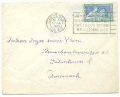 Yvert 214 Arts Décoratifs Seul Vers Le Danemark 1925 Dentelure Impeccable - Frankreich