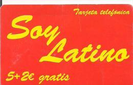 TARJETA PREPAGO SOY LATINO - Sellos & Monedas