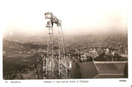 59 POSTAL DE BARCELONA DE LA ATALAYA Y VISTA PARCIAL DESDE EL TIBIDABO (SOBERANAS) - Barcelona