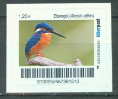 Biber Post Eisvogel 1,20 € Gezähnt, Neues Logo A763 - Privé- & Lokale Post