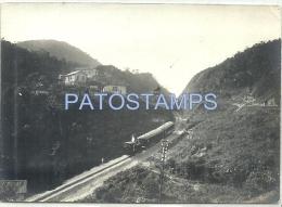 3690 BRAZIL BRASIL RIO DE JANEIRO PETROPOLIS VIEW PARTIAL & TRAIN TREN OLD PHOTO NO POSTAL POSTCARD - Brasilien