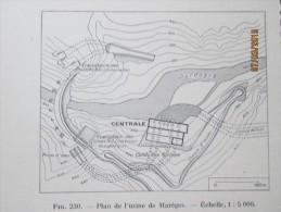 Plan De  L Electrification Des Alpes 1940 Electricité - Maps