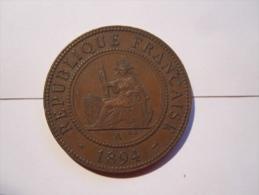 Piece 1 C Indochine Française 1894 - Colonies