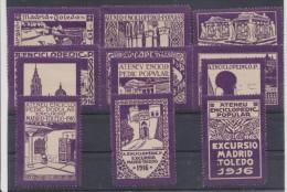 01987 Ateneu Enciclopedic Popular Excursio Madrid Toledo ** Barcelona 1916 - Otros