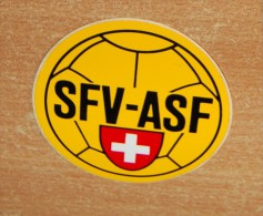 Vintage 70's ASF Association Suisse De FOOT Sticker Decal - Non Classificati
