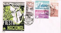 11945. Carta F.D.C. MADRID 1960. Fiesta Nacional, TOROS - 1951-60 Cartas