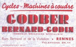 Buvard   Cycles Machines A Coudre B Godber  Bernard Godin Rennes - Bikes & Mopeds