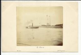Photo Originale , LE HAVRE , Signé Par Mr Rouzaud En Septembre 1901 , 8,5 X 7,3 - Boats