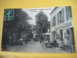 95 02 - CPA - ARGENTEUIL - LE MOULIN DE SANNOIS - LA TERRASSE - 1912 - ANIMATION (EDITION ? N° 64) - Argenteuil