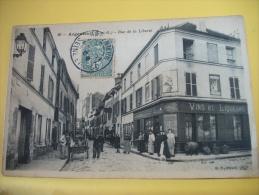 95 03 - CPA - ARGENTEUIL - RUE DE LA LIBERTE - 1906 - ANIMATION COMMERCE BUVETTE ELIANE (EDITION B.F. PARIS N° 30) - Argenteuil