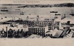 Portugal, Lisboa, Cp Pionnière (avant 1904) Porto, Pontal De Cacilhas, Beaux Bateaux, Carte Peu Courante. (voir Scan).