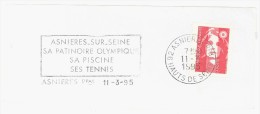 FRANCE. FRAGMENT ASNIERES. 1995. FLAMME - Marcofilia (sobres)