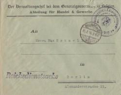 Briev Vom Verwaltungschef B.d. Generalgouvereur In Belgien Brüssel 25.2.18 Ansehen !!!!!!!!!!! - Occupation 1914-18