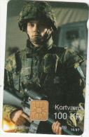 DENMARK - FVR, International Brigade, Danmont Telecard 100 Kr., Tirage 10000, Exp.date 10/97, Used - Armée