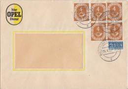 Bund Brief Mef Minr.5x 124 Davon 1 Waager. Paar Frankfurt 4.4.52 - BRD