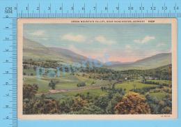 CPSM, Vermont ( Used In 1944, Green Mountain Valley, Cover Rutland) Linen Postcard Recto/Verso - Etats-Unis