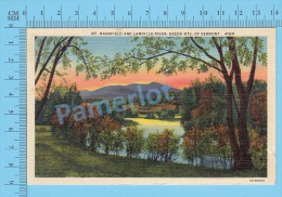 CPSM, Vermount  ( Mt. Mansfield And Lamoille Rever Green Mts.  ) Linen Postcard Recto/Verso - Etats-Unis