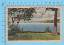 CPSM, Vermount  ( Used In 1954, Lake Bomossen In The Green MTS. Cover Chester Depot) Linen Postcard Recto/Verso - Non Classés