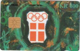 DENMARK - Danish Olympic Committee, Danmont Telecard, Tirage 10000, Exp.date 10/97, Used - Juegos Olímpicos