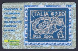 """2004 ITALIA REPUBBLICA """"ARTE DEL MERLETTO"""" TESSERA FILATELICA - 6. 1946-.. Republic"""