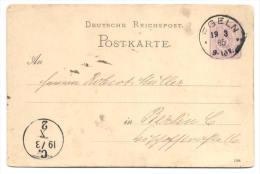 GS Deutsche Reichspost 1885 Von Egeln Nach Berlin - Deutschland