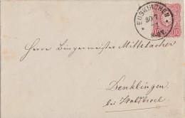 DR Brief EF Minr.33 Euskirchen 30.7.77 Gel. Nach Denklingen - Deutschland