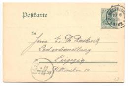 GS Deutsche Reichspost 1903 Von Pomssen Nach Leipzig - Germany